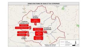 Zones d'actions CEFREPADE et OAG