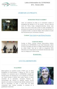 Lettre d'informations du CEFREPADE n°4 fev. 2018